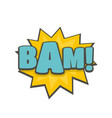 comic boom bam icon flat style vector image