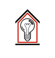Construction idea save electricity at home 3d vector image vector image
