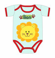 cute clothes for newborn with lion vector image vector image