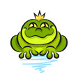 cute frog cartoon isolated on white background vector image vector image