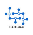 dot tech logo vector image