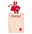 ector devils contract vector image