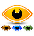 eye graphic vision seeing sight observation vector image vector image