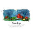 farming or farm vector image