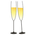 festive glasses of champagne in gold and black vector image
