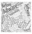 Free Spyware Adware Remover Word Cloud Concept vector image vector image