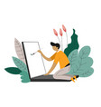 freelancer isolated character freelance web vector image vector image