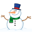 Friendly Snowman vector image vector image
