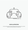 game gaming mobile entertainment app icon line vector image