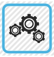 Gears Icon In a Frame vector image