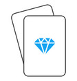 gem playing cards vector image