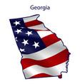 georgia full american flag waving in wind vector image vector image