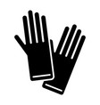 gloves icon black sign on vector image