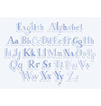 Hand cut alphabet vector image vector image