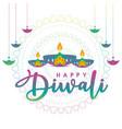 happy diwali icon design vector image