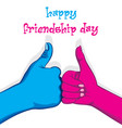 happy friendship day poster design vector image