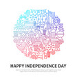 happy independence circle concept vector image vector image