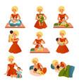 happy motherhood collection vector image