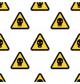 hazard danger skull signs on white background vector image