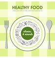 Healty food background representing vector image vector image