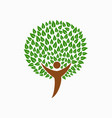 human tree concept for social help vector image vector image