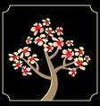 japanese cherry tree vector image vector image