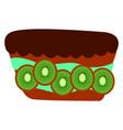 kiwi cake on white background vector image vector image