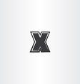 letter x logo black icon logotype symbol element vector image vector image