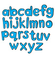 Letters of the alphabet in blue color vector image vector image