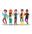mulicultural characters people satisfied vector image vector image