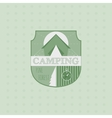 Outdoor adventure badge and forest logo emblem vector image vector image