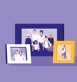 portrait with family members picture vector image vector image