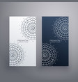 premium set of mandala card designs vector image vector image