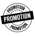 promotion stamp on white vector image