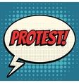 Protest comic book bubble text retro style vector image