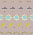 repeat seamless pattern with clouds rain vector image