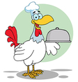 Rooster Bird Chef vector image vector image