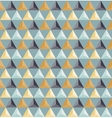 Seamless Geometric Triangle Grid Pattern vector image vector image