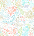seamless pattern of wild ocean life vector image vector image