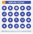 Server icon set Material circle buttons vector image
