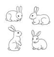 Set rabbits in contours