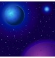 space planets and stars vector image vector image