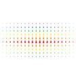 space rocket spectrum halftone array vector image vector image