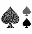 spades suit composition icon uneven pieces vector image vector image