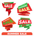 Summer sale sale label price tag banner badge vector image