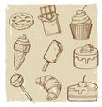 sweet seamless vector image