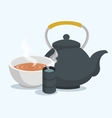 teapot classic isolated icon vector image vector image