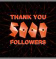 thank you 10000 followers thanks banner follower vector image