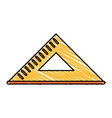 triangle ruler icon vector image vector image