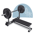 weight training vector image vector image